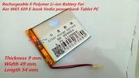 3 7V 3000mAh Rechargeable Li Polymer Li Ion Battery For Aor W65 S09 E Book Vedio
