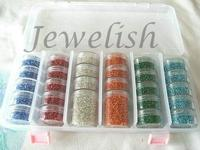 2MM Mixed Color Glass Seed Beads DIY Jewelry Making Bead Sets With Storage Box 2mm In