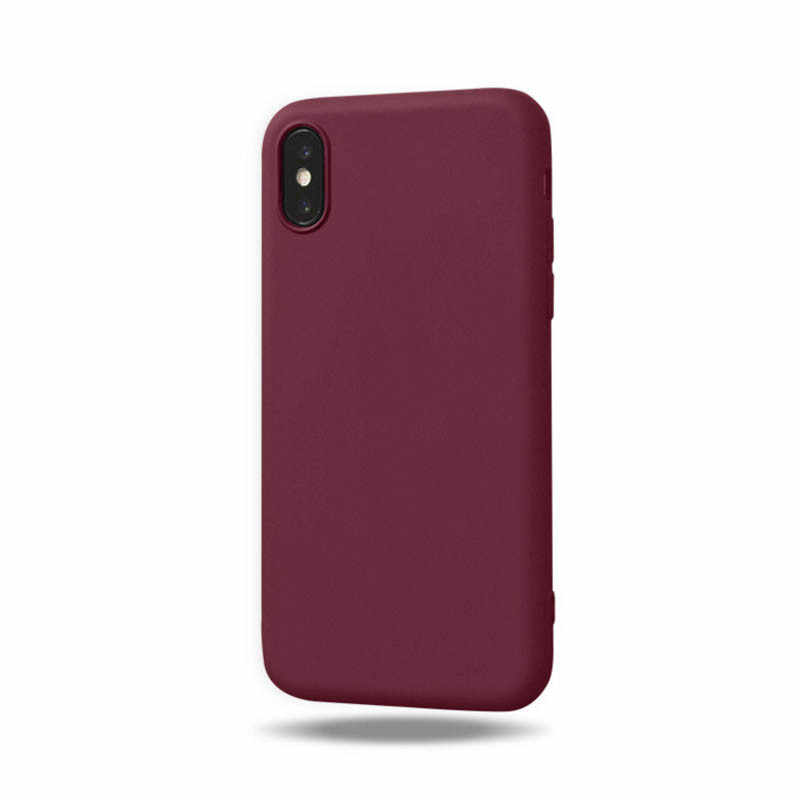 الفاخرة لينة سيليكون الحلوى اللون حقيبة لهاتف أي فون XS ماكس XR X 10 8 7 6 5 S 5 S 5SE 6 S زائد 7 زائد 8 زائد الغطاء الخلفي للهاتف الخلوي