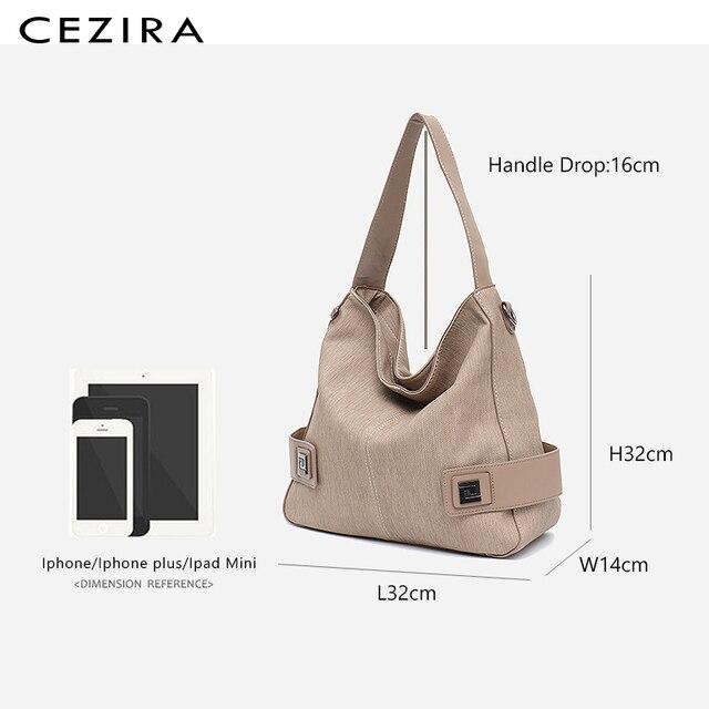 CEZIRA Casual Large Hobo for Women High Quality Vegan Leather Handbags Female Shoulder Bag  Ladies Fashion design Messenger Bag 4