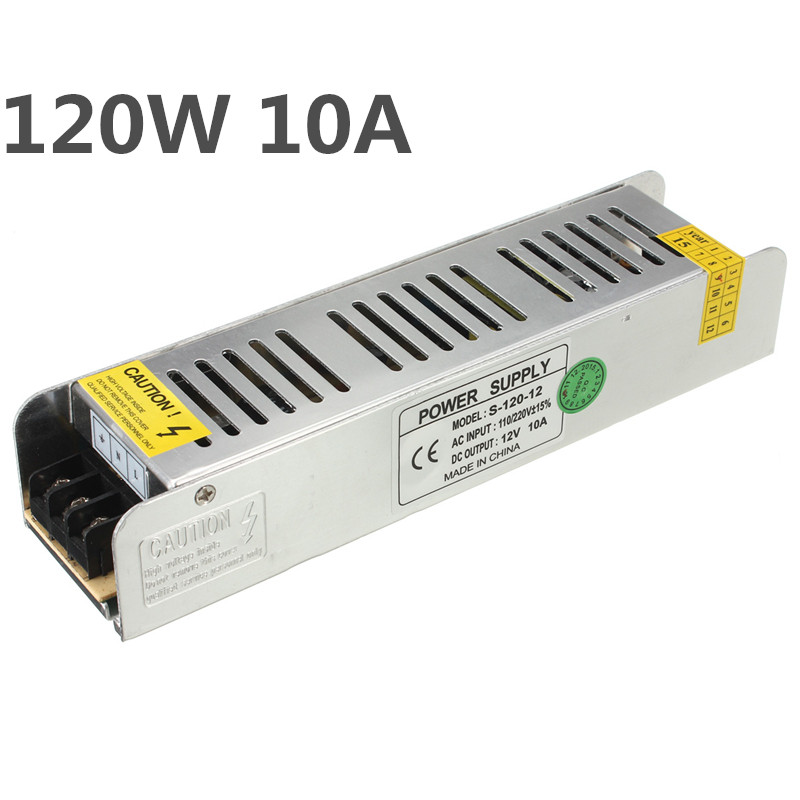 Mini Alimentation 10A 120 W DC12V AC85-265V Commutateur Transformateurs D'éclairage LED Driver Pour la Bande MENÉE Adaptateur Lumière