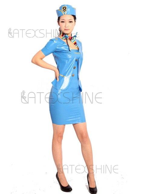 Блонд, стюардесса латекс фото