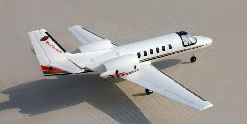 Dynam 1180MM Cessna 550 Turbo Jet RC RTF Propeller Plane W/ Motor ESC Servo Battery радиоуправляемый самолет dynam cessna 310 2 4g