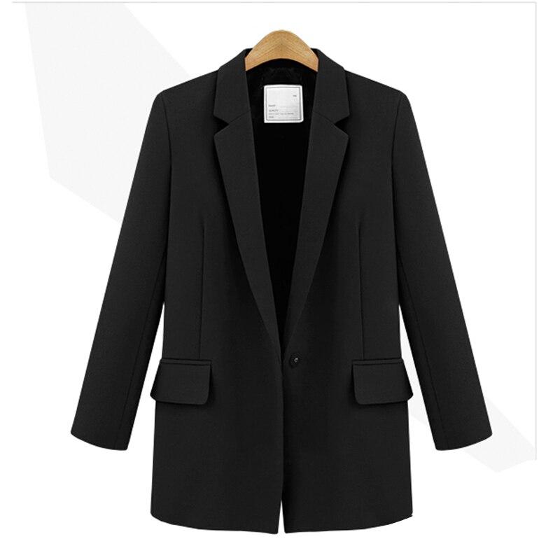 Women's Jacket 2019 Autumn New Women's Fashion Slim Long Sleeve Black Small Suit Ladies Long Sleeve Women's Blazer