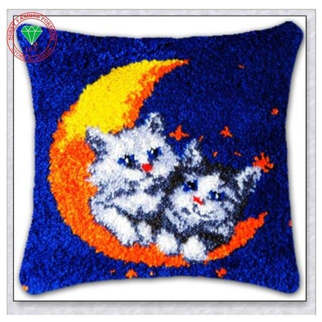 Cushion Embroidery Pillow Rug Kits Carpet Pillowcase Sch Mat Home Latch Hook