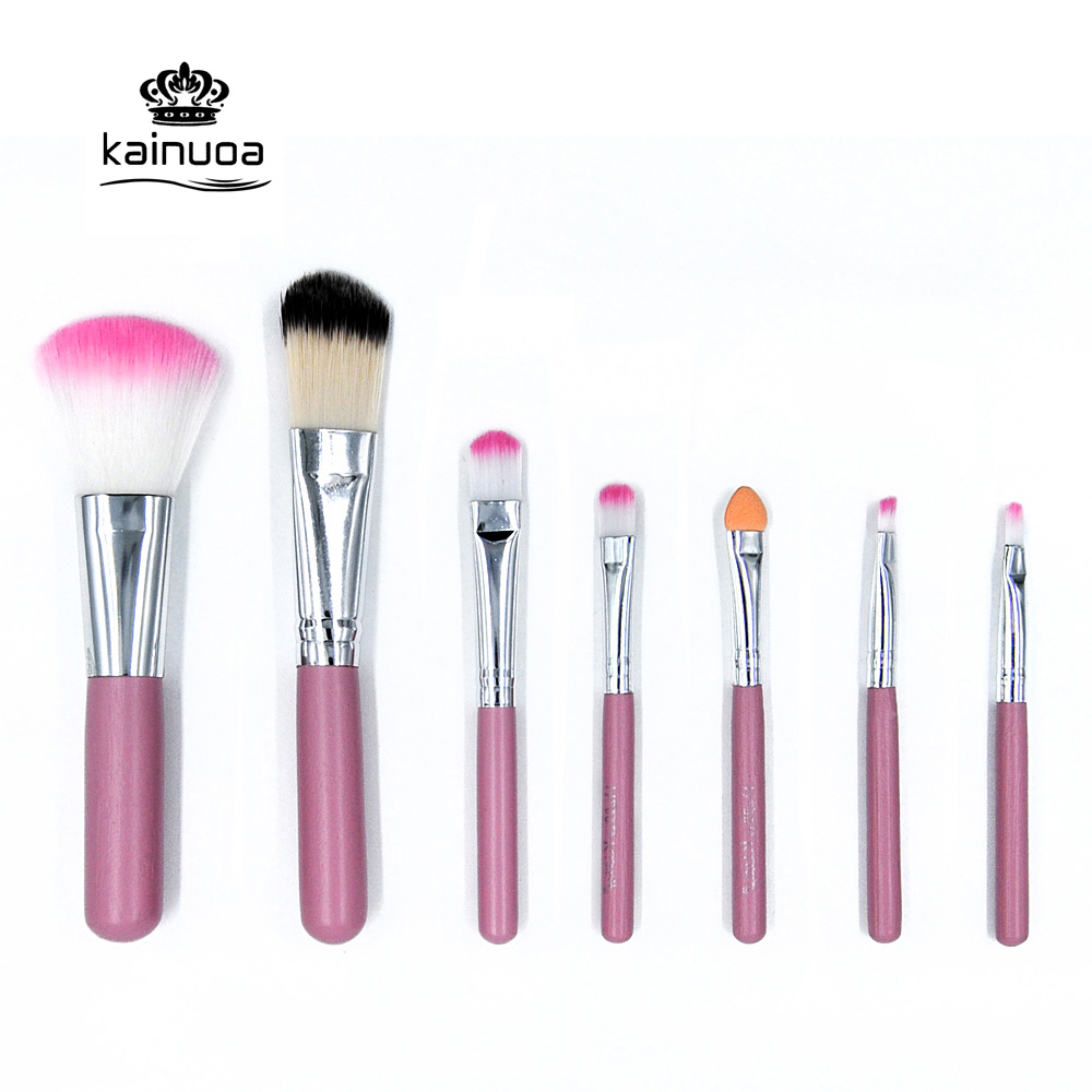 K-423 Makeup Brushes Set Tools 7pcs/set Make-up Toiletry Kit Wool Brand Make Up Brush Kit Cosmetic Foundation Powder Brushes