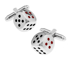 New Arrival High Quality Men Shirt Designer Cuff links Retail Copper Material Silver Boson Dice Design CuffLinks Free Shipping