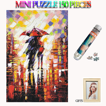 MOMEMO Romantic Rainy Night Jigsaw Puzzles 150 Pieces Paper Mini Adults Tube Puzzle Kids Teens Brain Teaser Assemble Toys