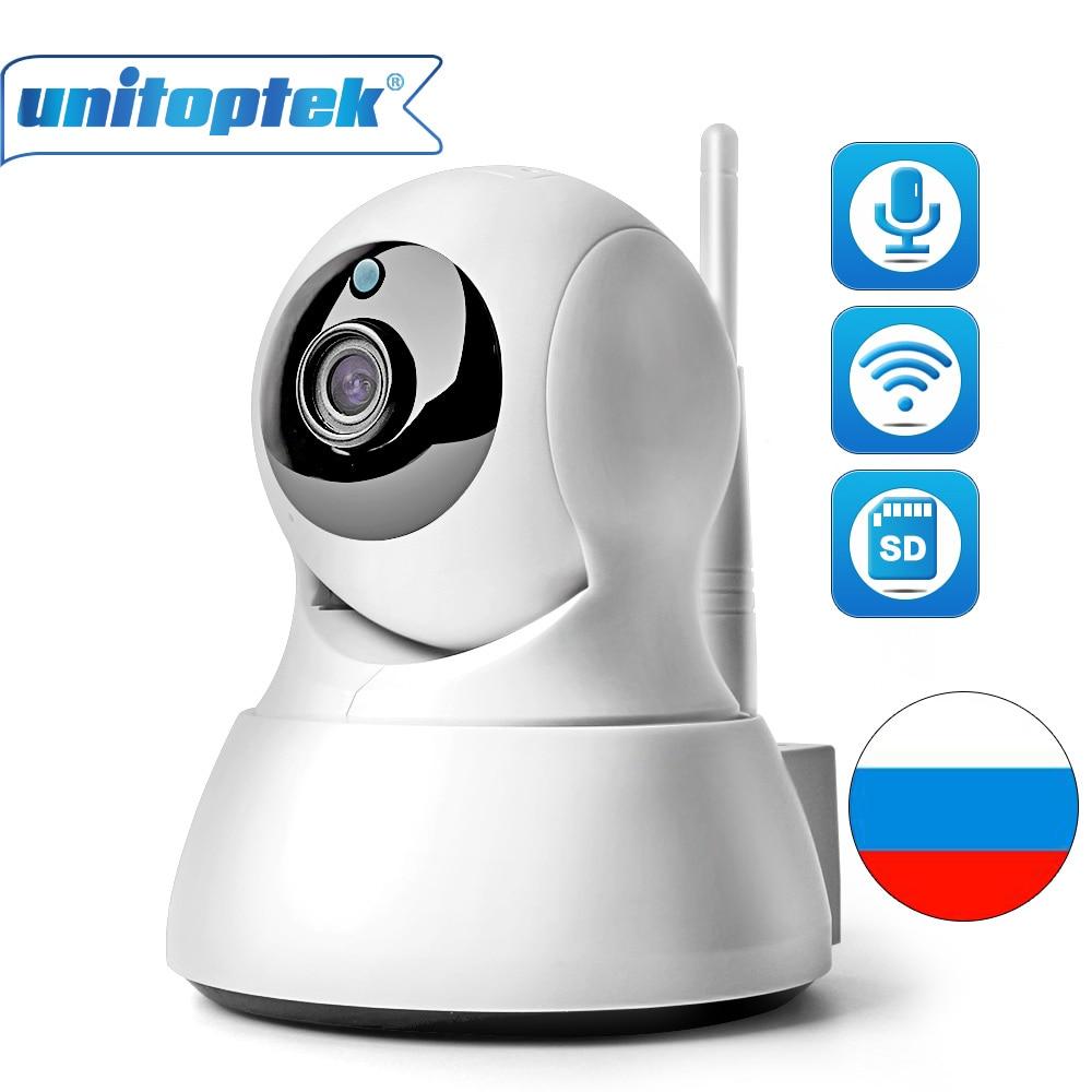 UNITOPTEK Wireless CCTV PTZ 720P IP WIFI Camera IR 10M Night Vision Audio Recording Surveillance Network Baby Monitor APP iCSee