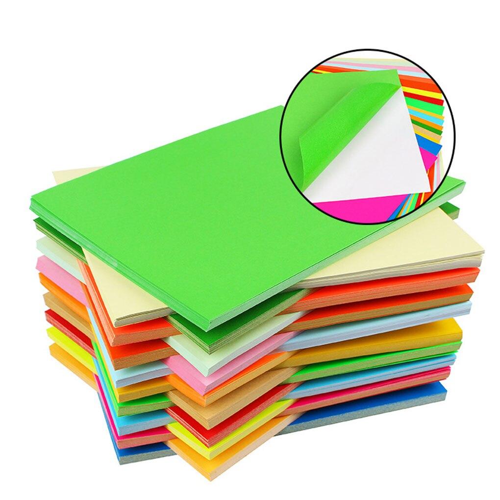 2018 nouveauté 100 pièces coloré A4 feuilles adhésives Floral collant auto-soutenu artisanat papier bricolage manuel en relief papier