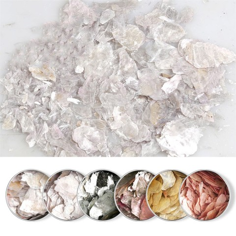 Nail Decorations 2019 Nails Decorations New Arrive Nails Rock Slice Mica Slice Shell Slice Thin Fragment Mix Piece Nail Ornament Pakistan