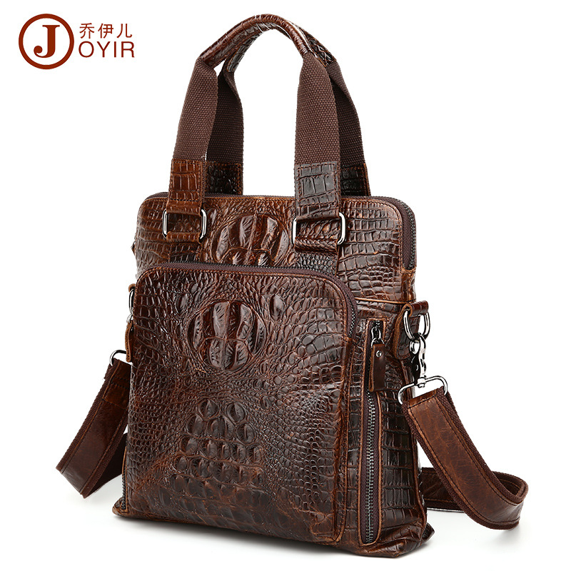 2017 Genuine Leather Bag top Men Bags Shoulder Crossbody Bags Messenger Small Flap Casual Handbag Male crocodile Leather Bag New genuine leather bag male men bags small shoulder crossbody bags handbags casual messenger flap men leather bag crocodile pattern