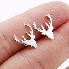 SMJEL – boucles d'oreilles en forme de cerf pour femmes, accessoires à la mode, bijoux d'animaux en bois, cadeaux de noël