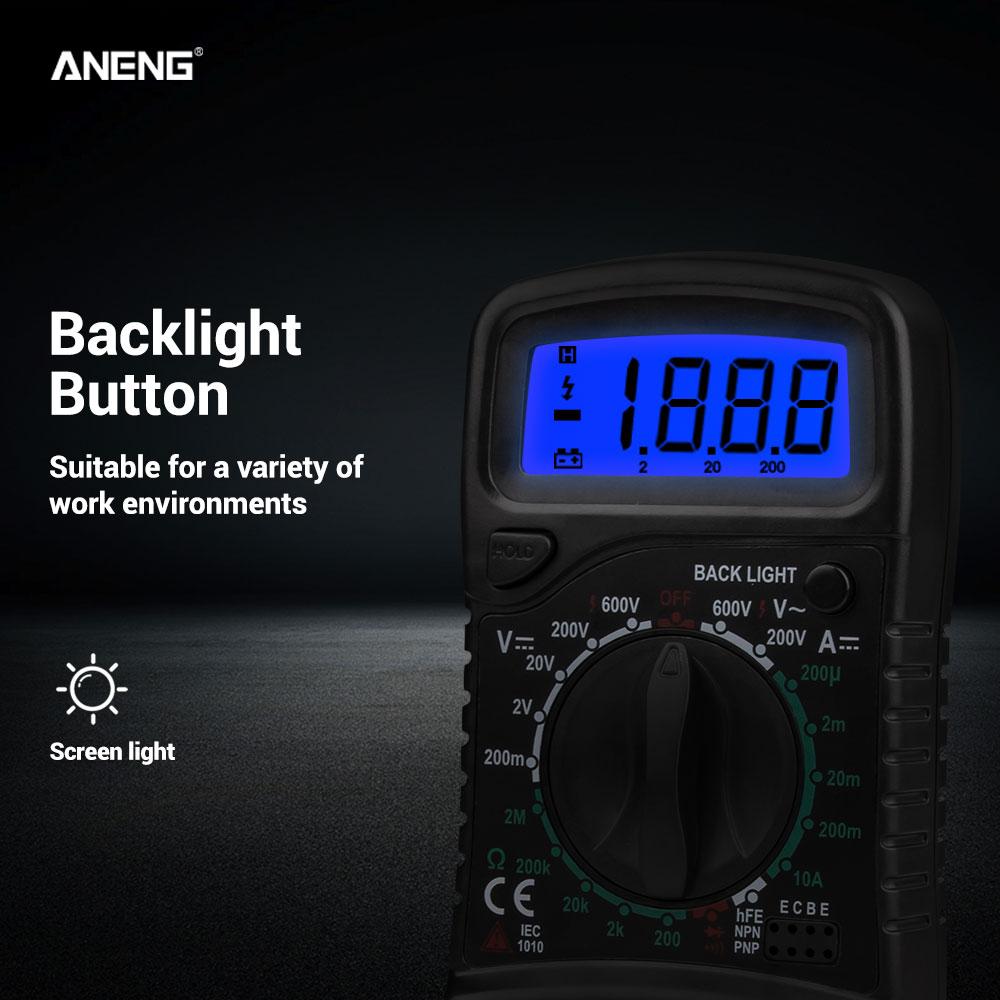 HTB1sBTHe21G3KVjSZFkq6yK4XXaO ANENG XL830L digital multimeter esr meter testers automotive electrical dmm transistor peak tester metercapacitance meter