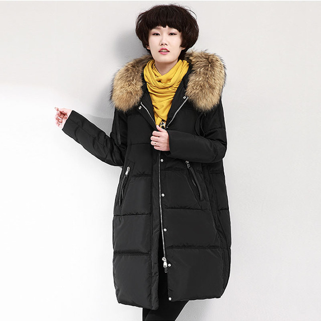 Winter Jacket Women 2017 Women Winter Coat Parka Womens Racoon Fur ...