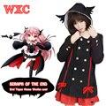 Anime japonês Serafim Da Extremidade Krul Tepes Cosplay Hoodies Harajuku Linda Meninas de Retalhos De Lã Casaco Com Capuz Traje Do Partido WXC