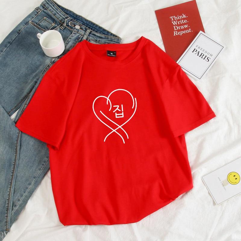 Map Of The Soul Persona T-shirts Unisex Hip Hop Clothes Short Sleeve Print Cotton T Shirt Boyfriend Gift Bantan Boys Kpop Tops