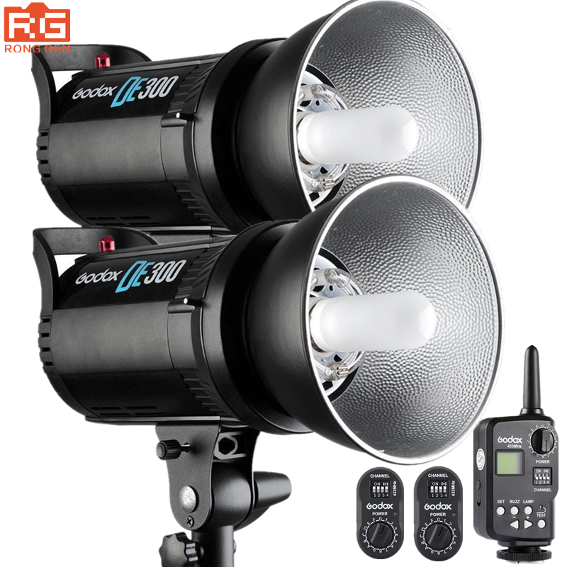 GODOX DE300 Flash Bowens mount Studio Photography Lights Kit Supports Wireless Power Control System and Flash FT System Trigger