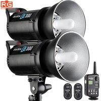 Godox de300 flash Bowens студия фотографии огни комплект поддерживает Беспроводной Мощность Управление Системы и флэш футов Системы триггер