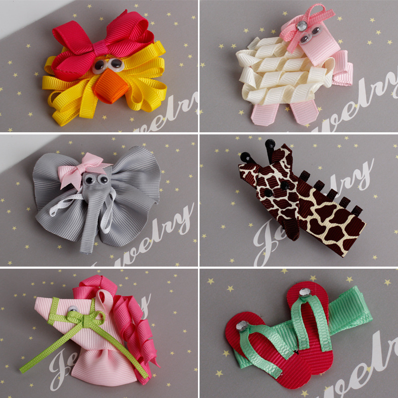1PCS Fashion Cute Animal Slippers Shape Kids Hairpins Baby Hair Clips Princess Barrette Children Headwear Girls Hair Accessories baby cute style children accessories hairpins rabbit fur ear kids girls barrette lovely hair clip