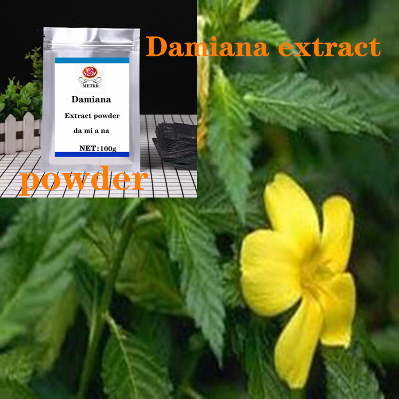 100-1000g Damiana Extract Powder, Enhance Male Libido, Plant Extract Raw Materials, Da Mi A Na ,Free Shipping