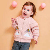 2019 Spring&Autumn New Ins In Vogue Euro American Style Easy To Match Embroidery Unicorn Kids Coats and Jackets Baby Clothes