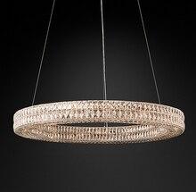 American Crystal Chandelier Creative Villa Club Living Room Bedroom Simple Postmodern Round Luxury