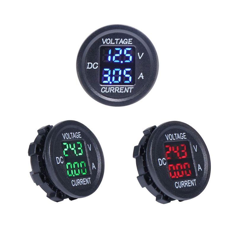 Universal DC 9V to 48V 0-10A Digital Voltmeter Ammeter Voltage Current Meter LED Display For 12V 24V Electric Motorcycle Car