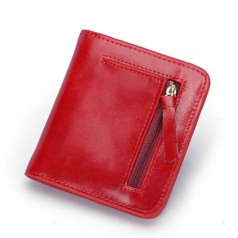 Designer Slim Women Wallet Thin Zipper Ladies Genuine