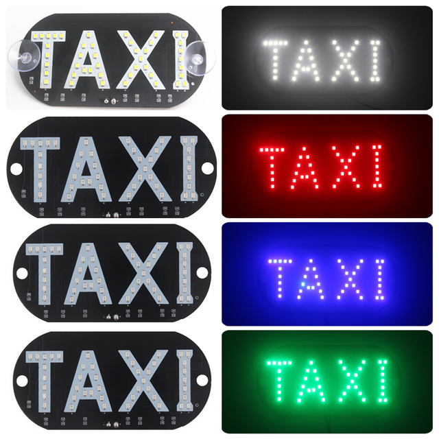 KALEN MAS Universal Taxi Led Car Light Windscreen Windshield Cab Sign White/Red/Blue/Green DC12V Indicator Lamp Car Styling