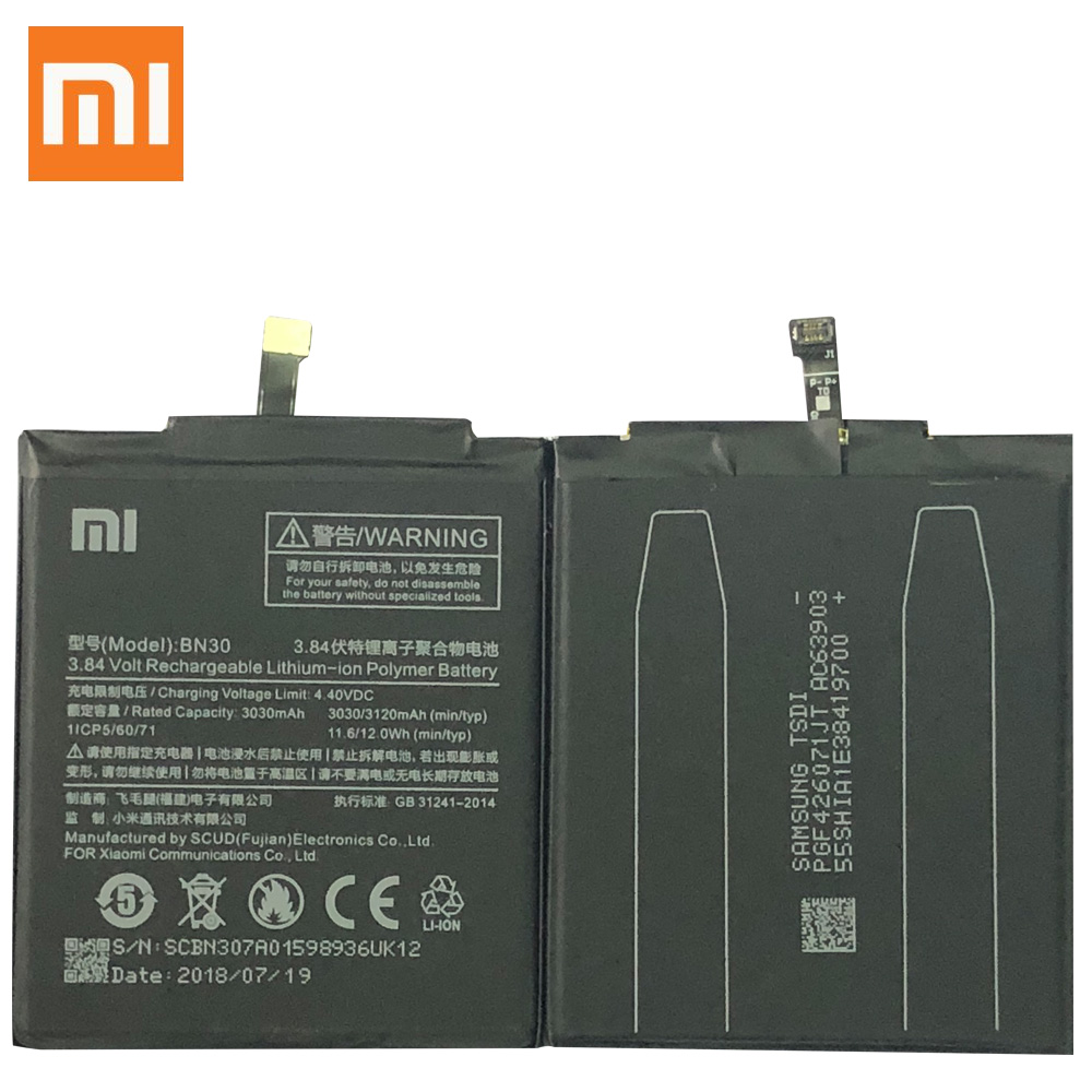Image 2 - BN30 BN41 BN43 BM46 BM47 Battery For Xiaomi Redmi Hongmi 4A 3S 3X 3 pro Note 3 4 4X MTK Helio X20 global Snapdragon 625 Bateria-in Mobile Phone Batteries from Cellphones & Telecommunications