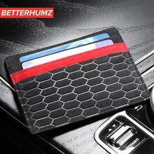 55eb95a4f Alcantara Banco titular de la tarjeta de crédito Paquete de tarjeta  monedero hombres cartera caso para BMW E46 E90 E60 E39 e36 F..