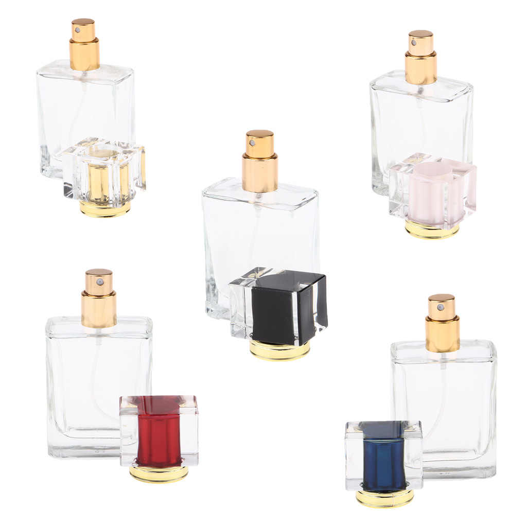 5Pcs Empty Glass Perfume Fragrance Bottles Aftershave Spray Containers 50ml