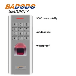 IP66 Outdoor WG26 Fingerprint password keypad access control reader for security door lock system gate opener use