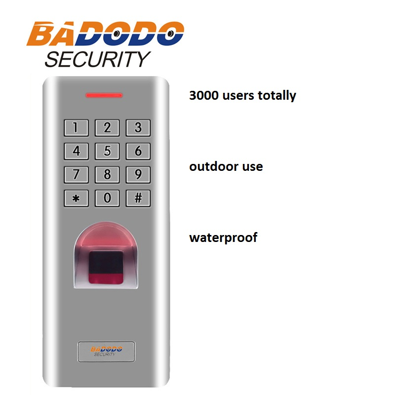 IP66 WG26 leitor de controle de acesso do teclado de senha de Impressão Digital Ao Ar Livre para o sistema de bloqueio da porta de segurança portão abridor de uso