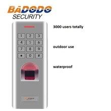 Ip66 야외 wg26 지문 암호 키패드 액세스 제어 리더 보안 도어 잠금 시스템 게이트 오프너 사용