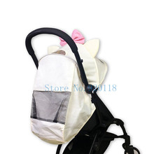 Textiles for yoya Stroller 175 Degrees pink girl hood cape Sun Shade Cover for Baby Throne Pram Cushion Pad accessories