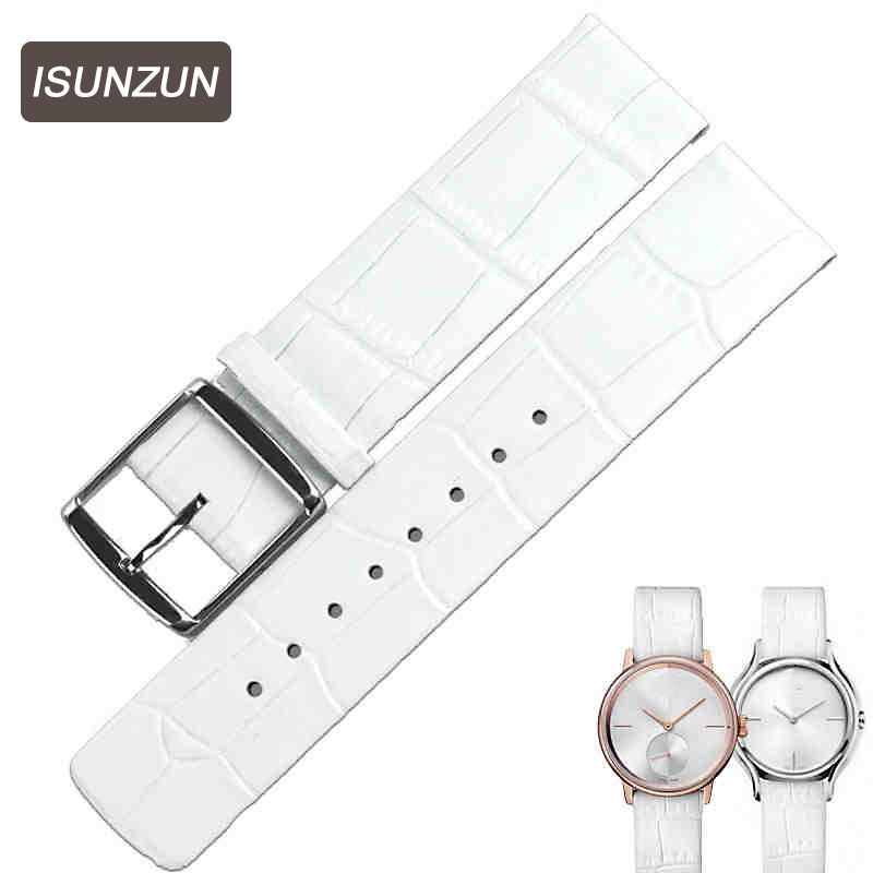 ISUNZUN  Genuine Leather Bracelet 16 20mm Watch Strap Men/Womem Watchband Wristwatches Band Butterfly Buckle for CK K2Y231 the golden butterfly leather leather watchband leisurely bracelet watch with 20mm common men and women