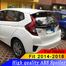 цена на High Quality ABS Material Car Rear Wing For HONDA FIT Spoiler 2014-2016 Jazz Primer Color Rear Spoiler