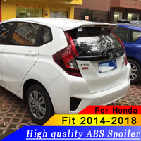 High Quality ABS Material Car Rear Wing For HONDA FIT Spoiler 2014 2016 Jazz Primer Color Rear Spoiler