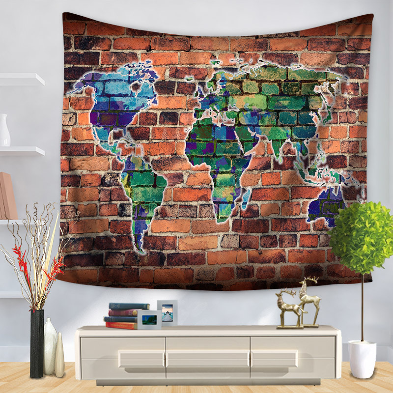 150*130 Tapestry Mandala World map Mandala Wall Hanging Indian tapestry Bohemian Tenture Murale mandala Blanket Tapiz pared