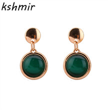 Act the role ofing is tasted Opals contracted temperament elegant vogue female stud earrings green stones