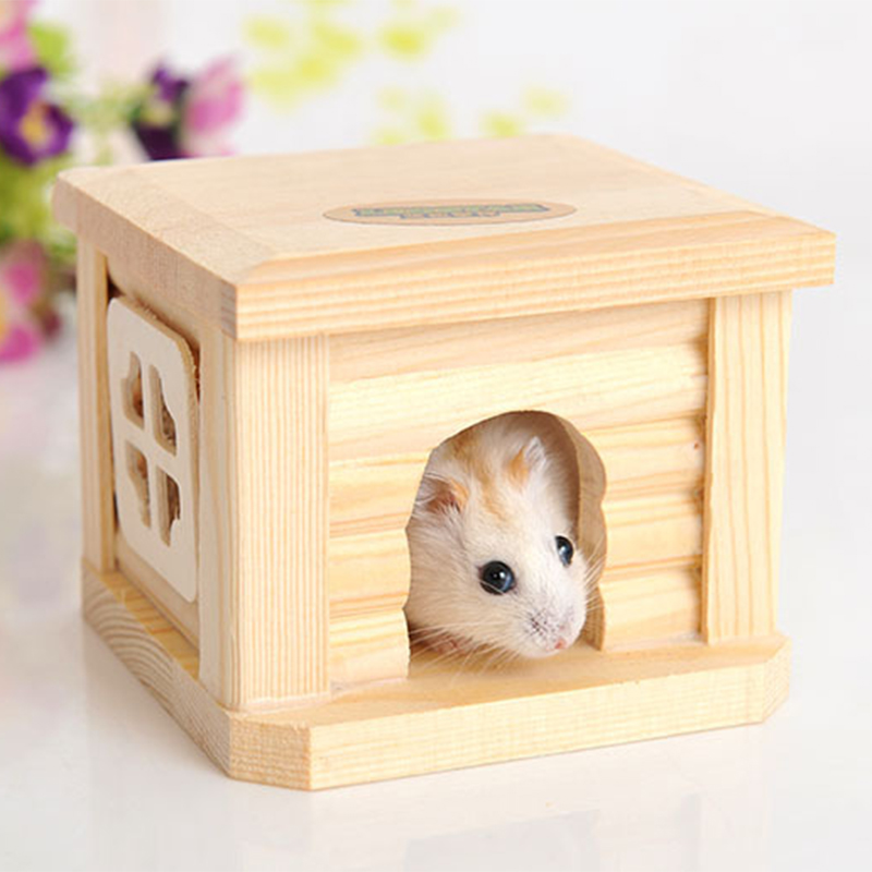 Mini Small Pet Wooden House CageWinter Windproof and Warm Nest Cave for Mouse Hamster Squirrel Baby Case Animals Accessories7