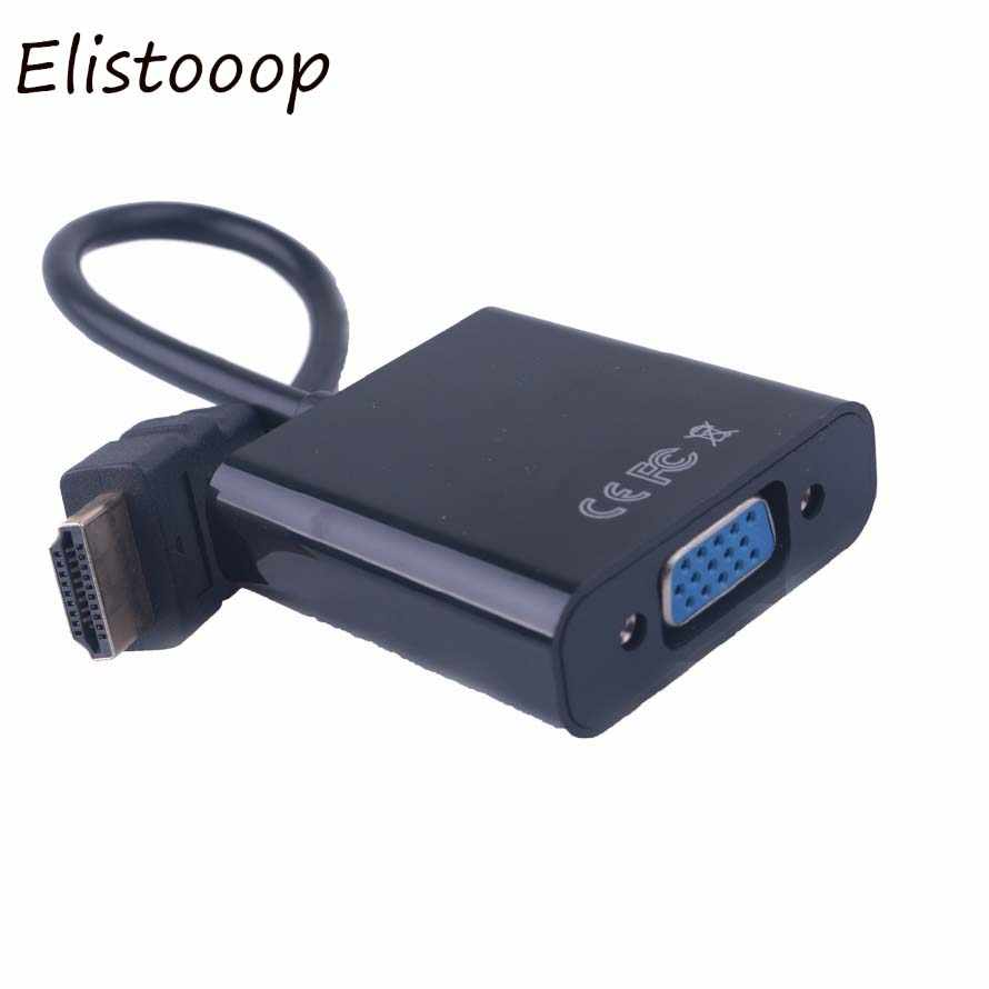 Elistooop Hdmi Male Naar Vga Rgb Female Hdmi Naar Vga Video Converter Adapter Hdmi Kabel 1080P Hdtv Monitor Voor pc Tv Box