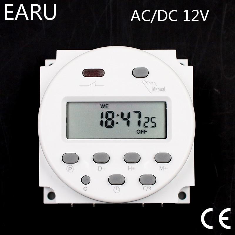 12V//24V//110V//220V LCD Digital Programmierbar Steuerspannung Zeitschaltuhr Relais