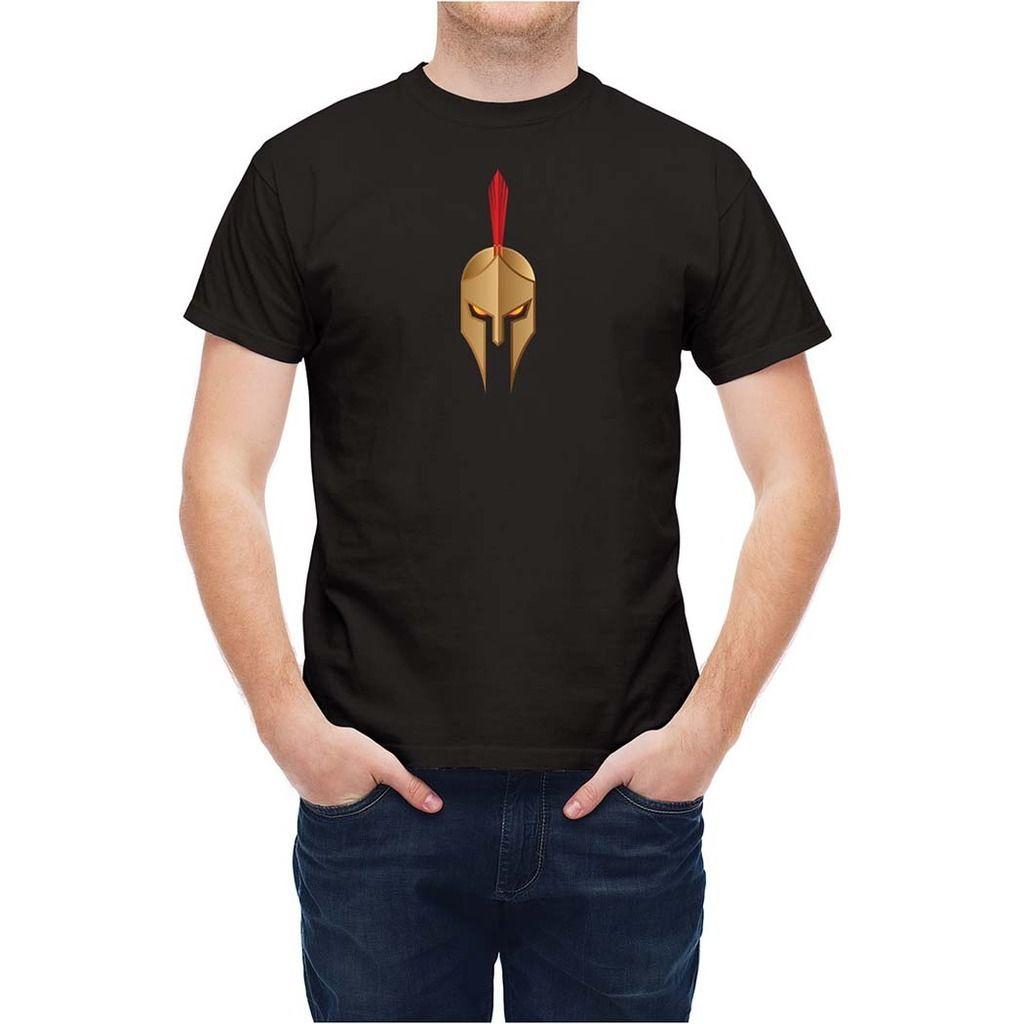 Shirt design new 2017 - T Shirt Greek Spartan Aggressive Design New T Shirt Men Fashion T Shirts Top Tee 2017 New Fashion Men S Short Sleeve