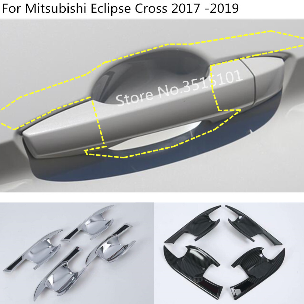 Genteel Car Body Cover Trim Outside External Door Bowl Stick Lamp Frame Panel 4pcs For Mitsubishi Eclipse Cross 2017 2018 2019 Price Remains Stable Exterior Parts Auto Replacement Parts