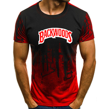 Cool Backwoods Print Camouflage Short Sleeves T-Shirt Tops S-4XL