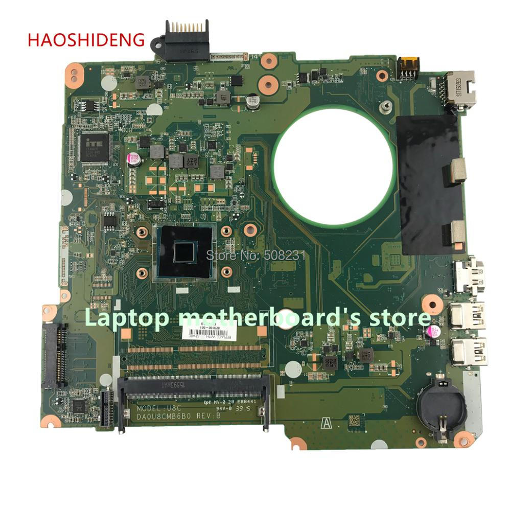 HAOSHIDENG 828168-601 828168-501 DA0U8CMB6B0 U8C for HP Pavilion 15-F 15-F223NR Laptop motherboard with CelN3050 fully Tested sheli for hp 15 15 f motherboard with n3050 cpu 828168 001 828168 601
