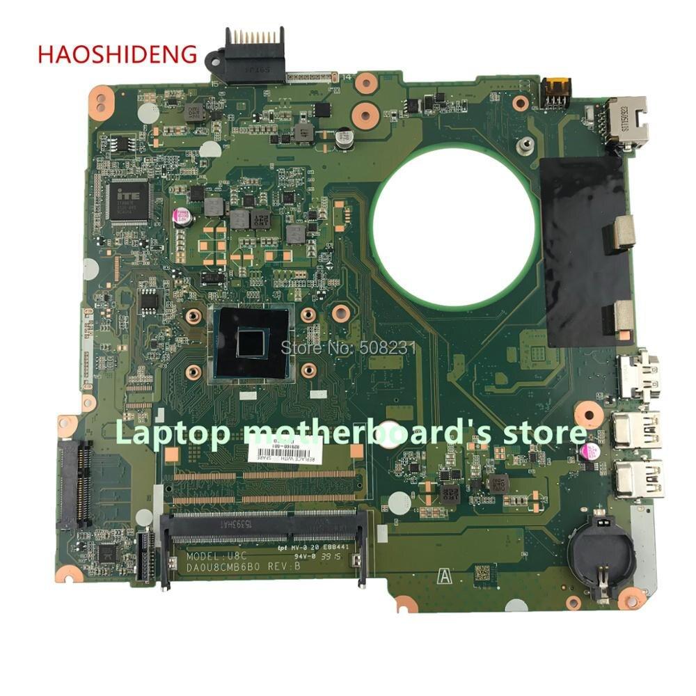 HAOSHIDENG 828168-601 828168-501 DA0U8CMB6B0 U8C for HP Pavilion 15-F 15-F223NR Laptop motherboard with CelN3050 fully Tested haoshideng 828164 001 da0u8amb6a0 laptop motherboard for hp pavilion 15 15 f motherboard